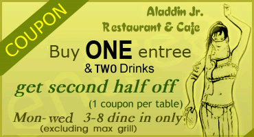 Coupons for aladdin's eatery